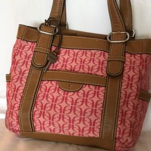 Pink Fossil Shoulder Bag